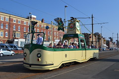 Blackpool Transport Open Boat 600 / 225 (Will Swain) Tags: blackpool during bank holiday gold running day 25th august 2019 heritage preserved tram trams light rail railway rails transport travel europe transportation city lancashire coast 600 open boat 225