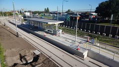 Photo of First tram due soon. Trafford Centre, Manchester.