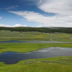 Yellowstone Park (Erik Schepers) Tags: nature usa travel roadtrip landscape mountains hills wild wilderness outside adventure serene quiet wyoming cloud sky road