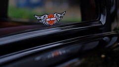 HD Sticker (Tim @ Photovisions) Tags: xt2 sticker fuji harleydavidson fujifilm decal pickup truck window reflections carshow