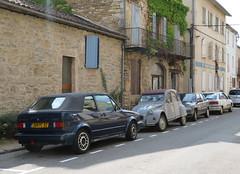1990s Street Scene (Spottedlaurel) Tags: vw golf citroen 2cv peugeot 309 renault 21