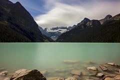 Lake Louise (milton sun) Tags: lakelouise banffnationalpark landscape outdoor clouds sky water rock mountain cliff nature reflection longexposure