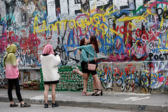 Moscow (Irina Boldina) Tags: people photography photo person color girls moments msk moscow street streetphotography streetphoto streetlife streetmoscow arbat documentary russia reportage kiss life mood art walls