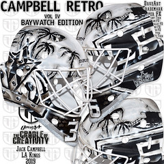 Campbell Retro Vol IV - Baywatch Edition (DaveArt MaskGallery) Tags: campbell los angeles kings daveart nhl