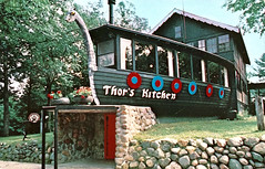 Thor's Kitchen (justforpostcards) Tags: vintage postcard restaurant wisconsin scandinavian