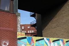 IMG_0728 (badtweetgirl) Tags: belfast ireland building architecture lines shadow light colour design brick geometric layers shapes outside exterior frame canon5dmarkii graffiti street art