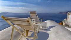 Relaxation in Santorini (Steve Grimmett Photography) Tags: relaxation oia santorini greece deckchairs