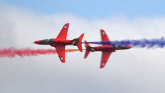 Red Arrows (dvankeu) Tags: airshow airforce royal air force english england