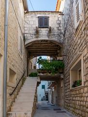 Oldtown alleyway (avalen) Tags: croatia dalmatia kaštela oldtown stonehouse architecture