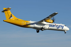 G-LERE Aurigny air Services ATR 72-500 at Manchester Airport on 12 May 2019 (Zone 49 Photography) Tags: aircraft airliner aeroplane may 2019 manchester england ringway airport man egcc gr aur aurigny air services atr 72 atr72 500 glere