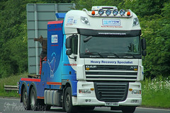 DAF XF Sparrow Recovery YW57 HBU (SR Photos Torksey) Tags: transport truck haulage lorry lgv logistics hgv road commercial vehicle freight traffic daf heavy recovery sparrow