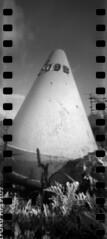 2445 Old Buoy. (Monobod 1) Tags: ondu 135 panoramic expired ilford hp5 rodinal pinhole lensless epsonv800