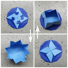 Know Your North (Dasssa) Tags: origami paper paperain tato blue paperfolding origamichallenge
