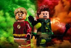 CW Arrowverse Elseworlds (-Metarix-) Tags: lego superhero minifig dc comics comic arrow theflash flash greenarrow oliver queen barry allen cw tv custom