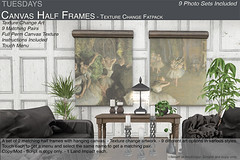 Tuesdays Canvas Half Frames - Texture Change (Tuesdays Designs) Tags: tuesdays darian hanging half frame picture photo canvas full perm texture change