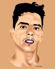 Portrait illustration (Faissal Wahabali) Tags: vector art artwork adobe graphicdesign illustrator ai illustration