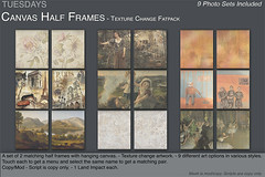 Tuesdays Canvas Half Frame Pics (Tuesdays Designs) Tags: tuesdays darian frame hanging half texture change art canvas picture photo
