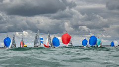 Wind is coming - hopefully (Peter H 01) Tags: lightwinds clouds hisc haylingisland watersports championship racing dinghy sailing 5o5