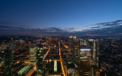 Cityscape (James-Z) Tags: frankfurt city citiscape outside design sunset night light clouds street blue skyscrapers sony sel1224g a7rii