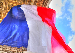 Viva la France (albyn.davis) Tags: paris france europe flag red blue colors vivid bright vibrant travel perspective colorful