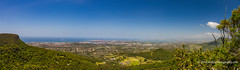 Wollongong from the end of the Mount Keira walking track - NSW, Australia (Peter.Stokes) Tags: australia australian colour landscape native nature outdoors photography summer vacations landscapes panorama stiched photo wollongong mountkeiralookout