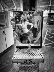 Street Photography in Bath (Livesurfcams) Tags: bath katemoss surfer bum apple iphone poster market