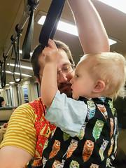 Transit expertise (quinn.anya) Tags: eliza toddler bart publictransit handrail andy sfbart