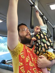 Reaching the top (quinn.anya) Tags: eliza toddler hand reaching bart sfbart andy transit publictransit