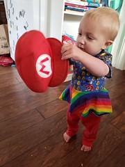 Junior Mario (quinn.anya) Tags: mario eliza supermario toddler hat