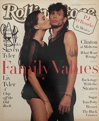 November 3, 1994, Signed Rolling Stone magazine by Steven Tyler (Joe Merchant) Tags: november 3 1994 signed rolling stone magazine by steven tyler aerosmith autograph autographed