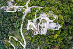 Path to the Ruins (The Hobbit Hole) Tags: castle wachau ruins droneshots fromabove mavic2pro path austriaösterreich austria