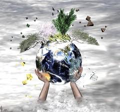 Essentials of Life - The Four Elements (☘️ Patrick Ireland ☘️) Tags: sharethelovesong earth fire water air fourelements sl secondlife environment keepitsafe paulmccartney natashabedingfield afflatus planetearth digitalart art photoshop gimp birds