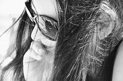 Canon EOS 60D - B&W - Lisa on the beach  - Summer 2019 (Gareth Wonfor (TempusVolat)) Tags: picmonkey lisa wife beautoful brunette mywife summer 2019 summer2019 beach reader reading garethwonfor tempusvolat tempus volat mrmorodo girl woman sunglasses glasses highkey contrast pepejeans pepe jenas read lisawonfor holiday cool