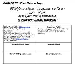 INSTA-SessionWorksheet (The Daring Librarian) Tags: instagram instagramapp example book promo bookface reading promotion