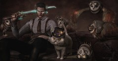 Engine Room - 4 (Kai Wirsing) Tags: {marukado} steampunk engineroom hextraordinary twc contraption theforge owl cat family 22769