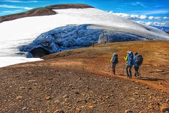 Iceland ~ Landmannalaugar Route ~  Ultramarathon is held on the route each July ~ Hiking to New Camp Site (Onasill ~ Bill Badzo - 67 M) Tags: iceland onasill landmannalaugar route ultramarathon is held each july hiking new camp site