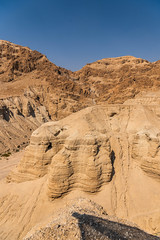 Mountains with Caves Where the Dead Sea Scrolls Were Hidden during our Dead Sea Scrolls Tour at Qumran National Park in Israel (SCSQ4) Tags: cave cavenumber4 caves deadseascolls discovery favorite favoritepicture israel israelbibletours mctv ministryofchristthetruevine mountains qumran qumranarchaeologypark qumrannationalpark travel vacation