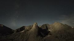 Pingora Peak Nightscape (David LaVergne) Tags: night nature stars clouds mountains wilderness nightscape wyoming