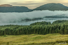 "Cloud over Loch Tulla near Bridge of Orchy and Rannoch Moor at dawn-05:39. (Scotland by NJC.) Tags: mountains hills highlands peaks fells massif pinnacle ben munro heights planina hora bjerg berg montaña vuori montagne βουνό montagna fjell lakes lochs reservoirs waters meres tarns ponds pool lagoon lago 湖 järvi lac see λίμνη 호수 innsjø jezioro озеро clouds haze billowing mist fog ""rain clouds"" obscure shadow سَحَابَة nuvem 云 oblak sky wolk nube pilvi nuage wolke σύννεφο nuvola 雲 chmura nor lochtulla bridgeoforchy rannochmoor scotland"