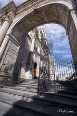 The Act of Foundation of Arequipa (marko.erman) Tags: arequipa plazadearmas latinamerica southamerica peru cathderal entrance gate church sillar monument architecture wideangle travel outside outdoor sony popular