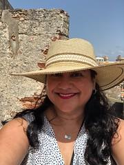 Portrait by the Castillo de San Cristóbal (Girl Least Likely To) Tags: travel caribbean castillosancristóbal vacation sanjuan island puertorico