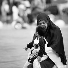 Mom will always love you kiddo.. (by Rsaleh) Tags: indonesia yogyakarta blackandwhite humaninterest