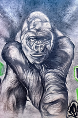 Gorilla (Atelier Teee) Tags: terencefaircloth atelierteee mural streetart chicago illinois logansquare