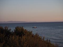 S9195077 SBAU Bacara sunset Venoco service boat (SBAUstars) Tags: september 19 2019 sbau bacara westmont astronomy telescope santabarbara montecito goleta sunset channel ocean