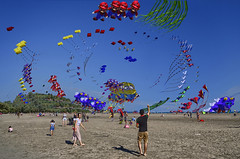 Kite Day at the Beach (Paul B0udreau) Tags: paulboudreauphotography raw toronto nikon art beaches nikkor1855mm canada ontario nikond5100 kite photoshop people festival supermario luigi minion photomanipulation