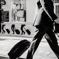 the traveller (Gerard Koopen) Tags: malaga soho spain españa street streetphotography urban traveling traveller luggage walking man sony a7iii 24105mm monochrome blackandwhite blackandwhiteonly noir streetlife dailylife 2019 gerardkoopen gerardkoopenphotography