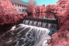 2-watermark (Brian M Hale) Tags: needham newton echo bridge waterfall dam outside outdoors ir infrared 590nm kolari vision kolarivision longexposure long exposure brian hale brianhalephoto breakthrough filters