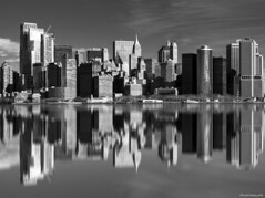 MIRROR (ricardocarmonafdez) Tags: nyc newyork manhattan cityscape skyline skyscrapers rascacielos ciudad city espejo mirrror reflejos reflections edition processing imagination sunlight shadows light cielo sky monocromo monochrome bn bw blackandwhite nikon d850 simetría symmetry