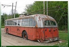"1948 Pullman Standard 45OS-102-43CX ""MBTA"" (uslovig) Tags: 1948 pullman standard 45os 102 43cx massachusetts bay transportation authority 8361 mbta obus electric bus coach busse buses kennebunkport trolley museum seashore amerika america usa city stadt"