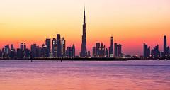 Dubai Skyline (durlavrchowdhurynasa) Tags: dubai skyline nikon bluehour cityscape longexposure slowshutter architecture dubaicityscape uae emirates dubaicreek harbor water goldenhour smooth river travel beautifuldestination tourism